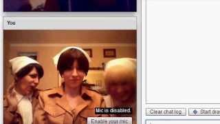 CHATROULETTE #3 Shingeki no Kyojin Cosplay [Eren, Rivaille & Armin]