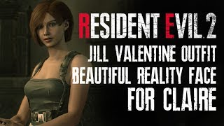 Resident Evil 2 Remake Jill Valentine Outfit and Beautiful Reality Face