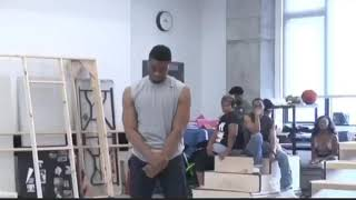 "Chadwick Boseman singing Tupac ""I ain't mad at cha"" in Broadway workshop"