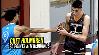 Chet Holmgren Goes DUMMY For 35 Points & 17 Rbs at The Crawsover!! #1 Pick in 2022!?