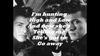 AHA  HUNTING HIGH AND LOW 1986 12' VINYL ( LYRICS )