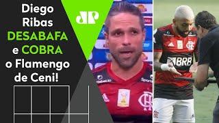 """""""Joga bonito merd* nenhuma""""; Diego desabafa e cobra time do Flamengo de Rogério Ceni"""