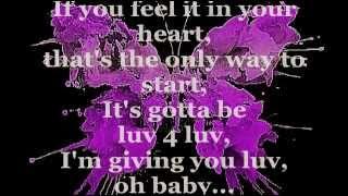 LUV 4 LUV (Lyrics)   ROBIN S