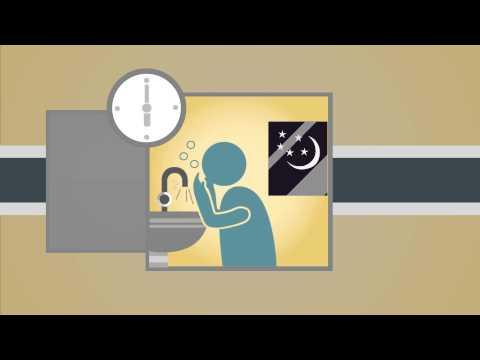 أحكام المسح على الخفين … إنفوجرافيك متحرك و رائع