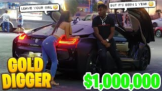THIS GOLD DIGGER Tried to Ruin my 1-YEAR Relationship with Asia! Gold Digger Experiment