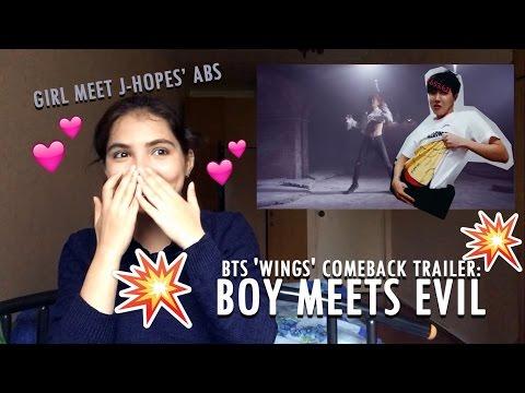 (BTS) 'WINGS' Comeback Trailer : Boy Meets Evil РЕАКЦИЯ   ПРЕСС ХОУПА! (видео)