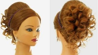 Wedding Prom Hairstyle For Long Hair. Updo Tutorial