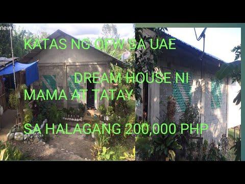 KATAS NG OFW SA UAE/ Nabigay ko ang Dreamhouse nila mama at tatay(200,000 PHP)Only VLOG 9 PINAY OFW