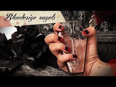 Nail Art tutorial: Bloederige nagels voor Halloween