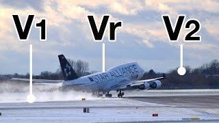 """TAKE-OFF Speeds V1, Vr, V2! Explained by """"CAPTAIN"""" Joe"""