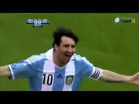 the day Lionel Messi destroy Brasil (4-3).