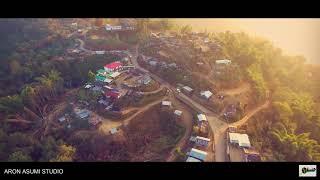 Satami Village    Zunheboto    Nagaland    North East    Aerial View    DJI Phantom 4    2021