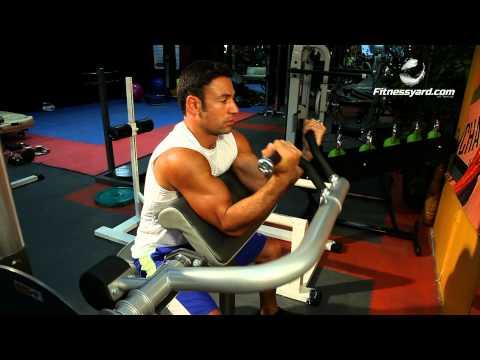 Biceps Exercises -- Machine Preacher Curl