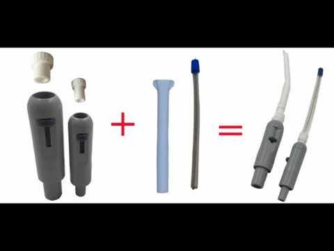 Plastic Dental Oral Saliva Ejector Suction High low Handpiece Tip Adaptor