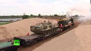 Военные железнодорожники на учениях возвели мост длиной 400 метров