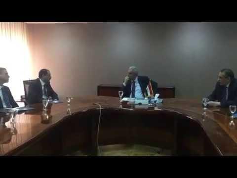 لقاء الوزير/ طارق قابيل بنائب رئيس شركة ماهيندرا الفنلندية الهندية