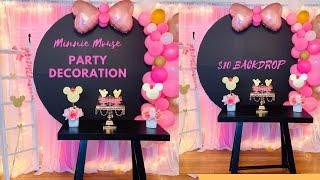 Minnie Mouse Party Decoration Ideas /DIY: Dollar Tree Minnie Mouse Party Ideas!!!!