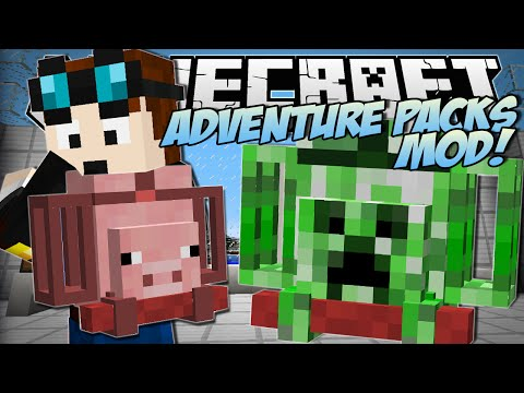 Minecraft | ADVENTURE PACKS MOD! (Super Duper Magical Bags!) | Mod Showcase