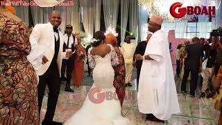 Oba Elegushi Family show off their Dance Skill with the Bride Family As They Spray Them Money