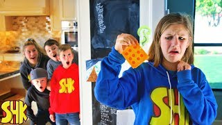Stinky Cheese April Fools Joke! Sneak Attack Squad vs SuperHeroKids
