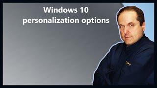 Windows 10 personalization options