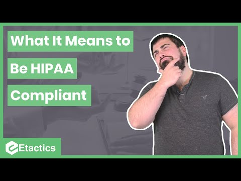 What It Means to Be HIPAA Compliant - YouTube
