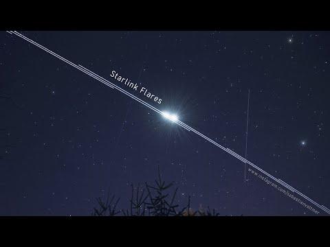 Satelliten Am Himmel Zu Sehen