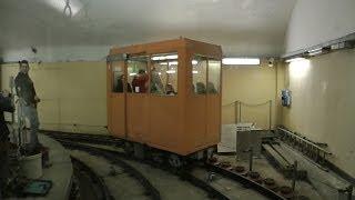 "Ascensore Montegalletto Funicular Railway. ""Unique"" Underground Narrow Gauge Railway. Genoa Tourism."