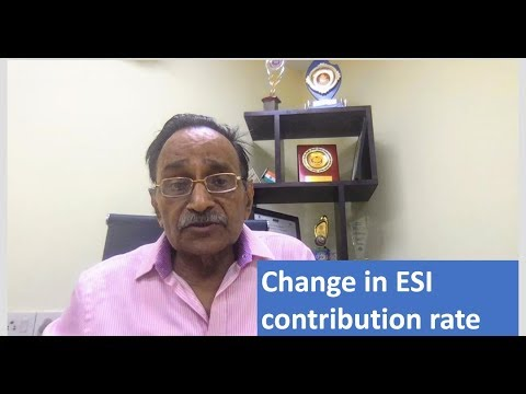 ESI contribution rate reduced from 6.5 to 4 : Finsys ERP Payroll Module