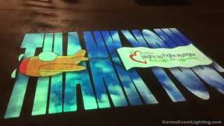 Animated Logo Projection for Matthew's Crossing Charity Event - Karma Event Lighting