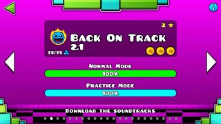 BACK ON TRACK 2.1 VER   Geometry Dash 2.1 : Back On Track 2017 # Demon ( ͡° ͜ʖ ͡°)