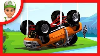 Handy Andy and Blaze and the Monster Machines at the races - episodes blaze