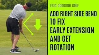 GOLF: Add Right Side Bend To Fix Early Extension And Get Rotation