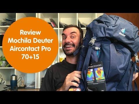 Review Mochila Deuter Aircontact Pro 70+15 mod. 2018