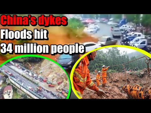 Sleepless nights on China's dykes as floods hit 34 million people