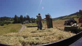 Time Lapse Of Stacking Bales