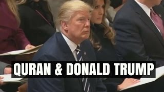 Donald Trump listens to Quran - Inauguration