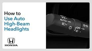 How To Use Auto High-Beam Headlights