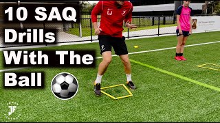10 Fast Feet Drills (With & Without The Ball)   Joner Football