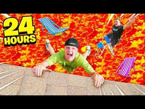 24 HOUR EXTREME FLOOR IS LAVA CHALLENGE!