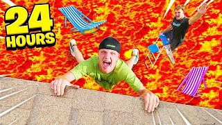 24 HOUR EXTREME FLOOR IS LAVA CHALLENGE!