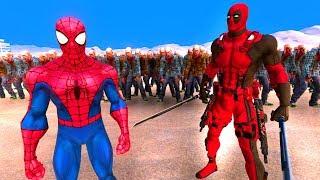 DEADPOOL ÖRÜMCEK ADAM VS 10.000 ZOMBİ 😱   Süper Kahramanlar