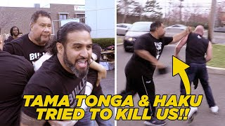 Tama Tonga & Haku Attack WhatCulture At Bullet Club Block Party