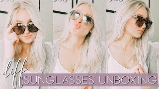 DIFF SUNGLASSES UNBOXING + HAUL |  REVIEW