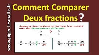 Math 5ème : Comparaison de deux fractions