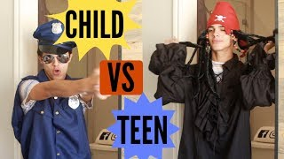 CHILD VS TEEN: Halloween!   Brent Rivera