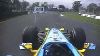 2006 Australian GP- Montoya, Raikkonen, Alonso victory lap