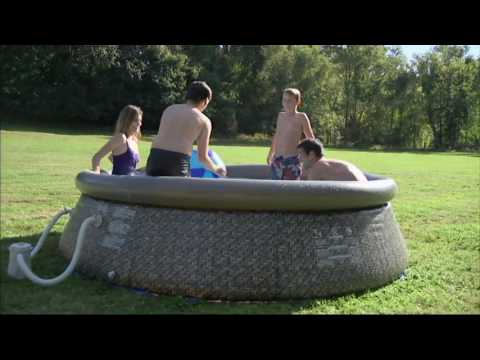 Quick Set Inflatable Instant 10' Swimming Pool with Pump on QVC