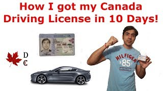 How I Got My Canadian Driving License in 10 Days   Canada Driving License   Canada PR