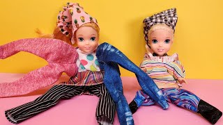 Dress Up Mess ! Elsa And Anna Toddlers - Dresses - Shoes - Purses